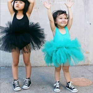I Love Plum Teal Tutu Dress
